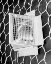 Figure 26. A side wall exhaust vent with 1/4-inch hardware cloth.