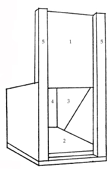 Fig. 2a. Front and partial interior of box trap set.