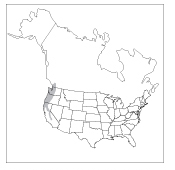 Figure 3. Approximate range of mountain beavers in North America.